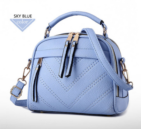 f82178ea27c Candy Colors Small Leather Crossbody Bags For Women bws