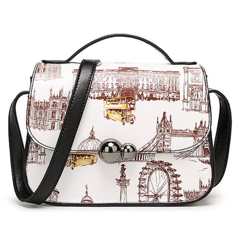 607b7222572 Casual Oil Picture Pattern Printed Crossbody Bag bws Fashion