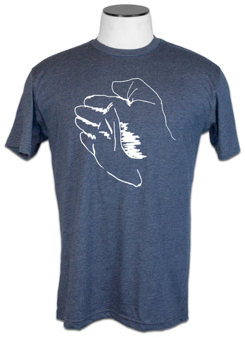 AVA Knife Hand - 60/40 Lightweight Midnight Navy Tee