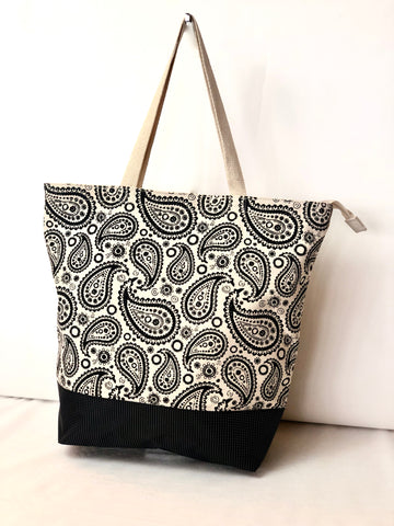 Cotton Canvas Tote TY332 Paisley print