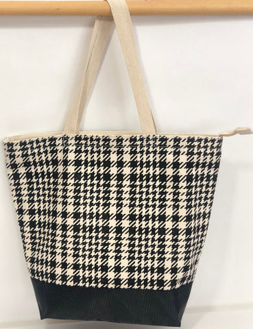 COTTON CANVAS TOTE TY333 LenPlaid