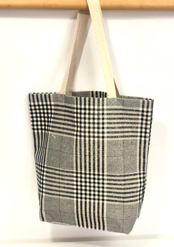 Cotton Canvas Tote NP347 Glen Plaid