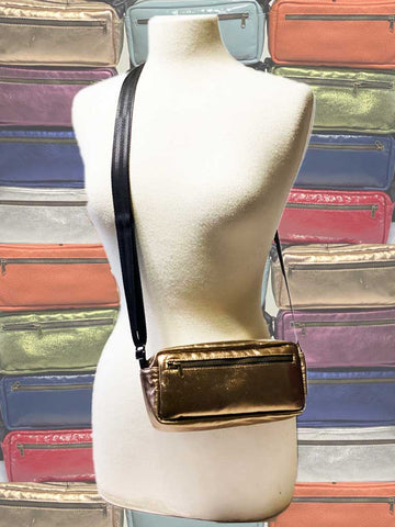 100% leather Brik crossbody