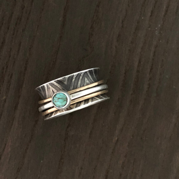 Chevron Spinner with Turquoise