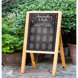 Chalkboard with Pink Dots Wedding Seating Chart - E10A
