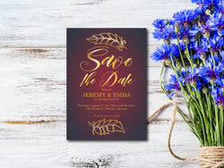 Gold Save The Date Invitation - E141B