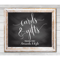 Chalkboard Cards and Gift Sign DYI Template Editable PDF