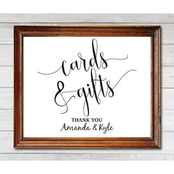 Plain White Cards and Gifts Sign Kraft Paper DYI Template Editable PDF