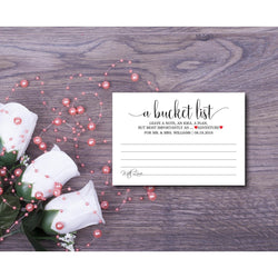 Bucket List Advice Card Kraft Paper Bucket List Card DYI Template Editable PDF