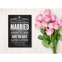 Retro Black & White Save The Date Invitation - E85A
