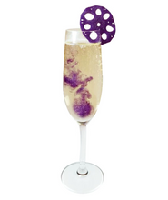 Lotus Root Cocktail Garnish - Butterfly Pea & Elderflower