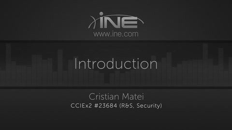 CCNP Security Technology Course: 300-207 SITCS - INE
