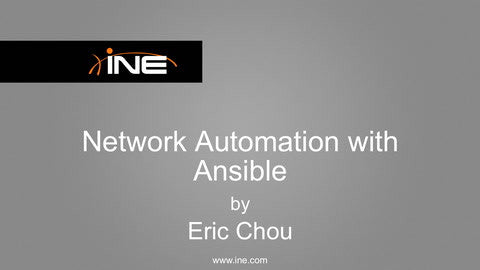 Network Automation With Ansible - INE