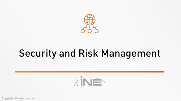 CISSP Technology Course: Domain 1 - Security And Risk Management - INE
