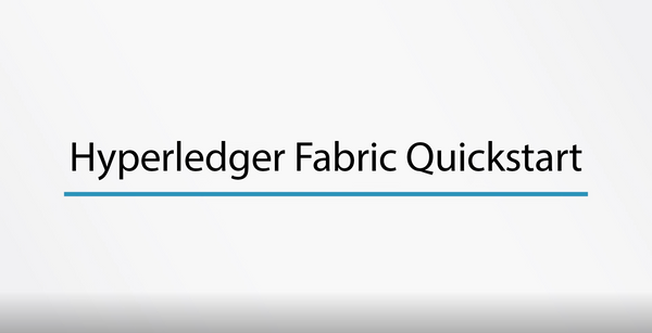 Hyperledger Fabric Quickstart