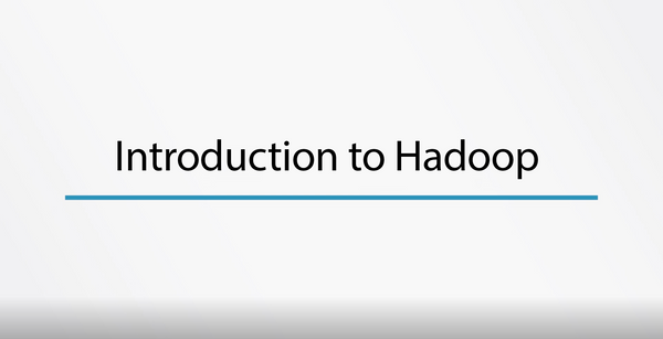 Introduction To Hadoop - INE
