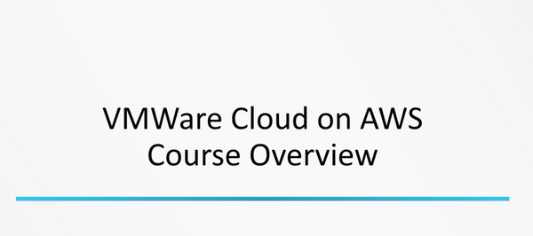 VMWare Cloud On AWS - INE