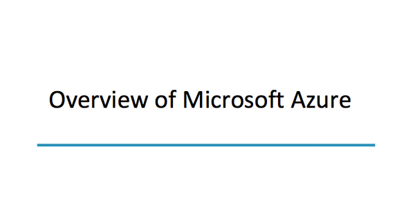 Overview Of Microsoft Azure - INE
