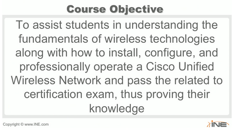 CCNA Wireless Exam Course (640-722 IUWNE)