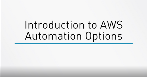 AWS Automation Options - INE