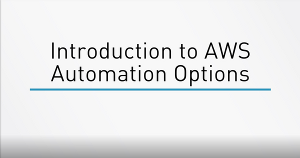 AWS Automation Options
