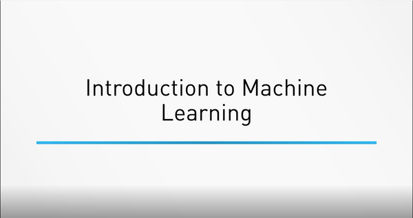 Introduction To Machine Learning - INE
