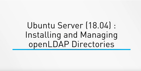 Ubuntu Server (18.04) : Installing And Managing OpenLDAP Directories - INE