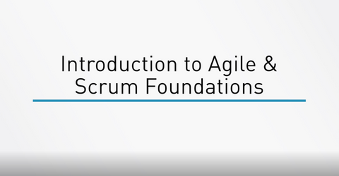 Agile And Scrum Foundations - INE
