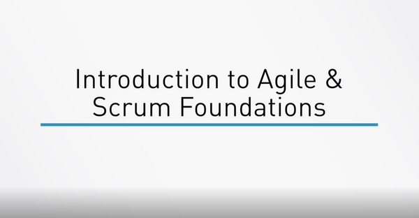 Agile And Scrum Foundations