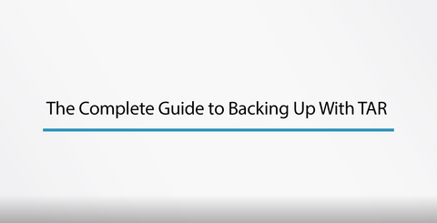 The Complete Guide To Backing Up With Tar