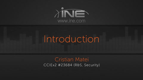 CCIE Security v4.0 Exam Prep - INE