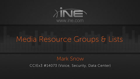 CCIE Collaboration: UCM :: Media Resources - INE