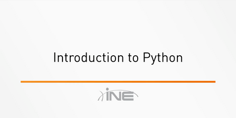 Getting Started In Python - INE