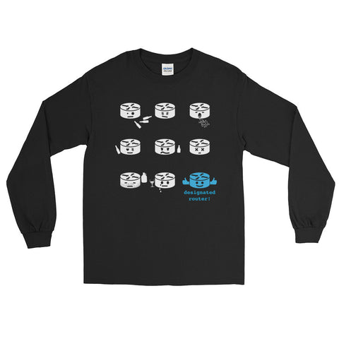 Designated Router – Long Sleeve T-Shirt