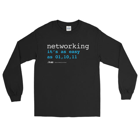 Networking Is Easy – Long Sleeve T-Shirt - INE