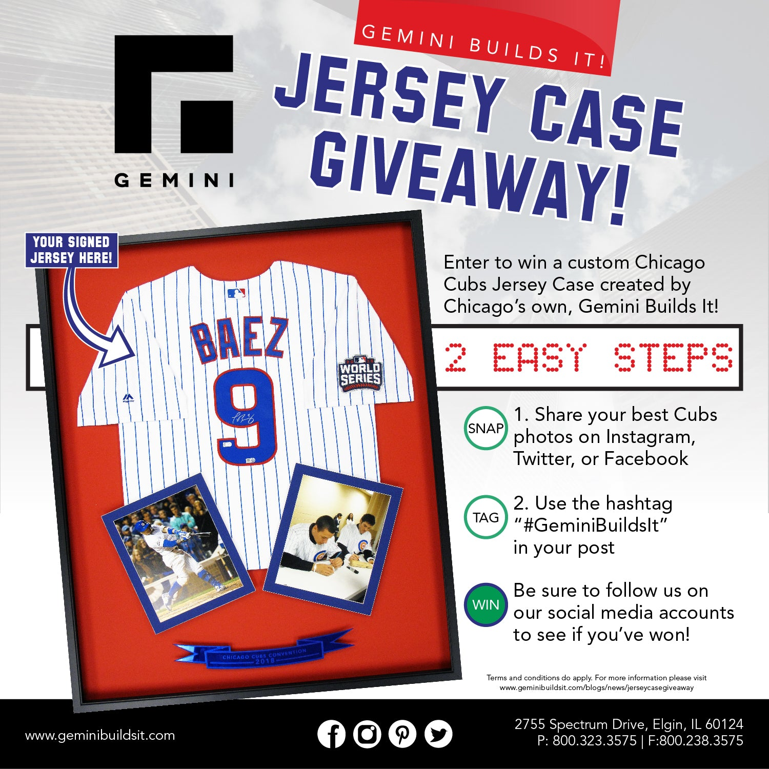 Chicago Cubs Jersey Case Giveaway