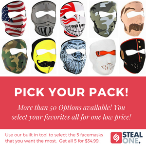 Neoprene Face Mask Bundle - 5 Pack