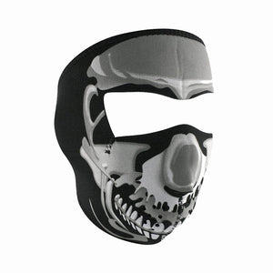 Neoprene All-Season Full Face Mask - Chrome Skull