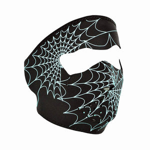 Neoprene All-Season Full Face Mask - Glow Spider Web
