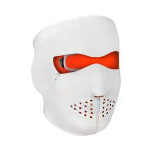 Neoprene All-Season Full Face Mask - High-Viz Whit to Hi-Viz Orange