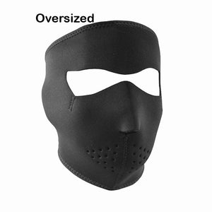 Neoprene All-Season Full Face Mask - Oversized Black