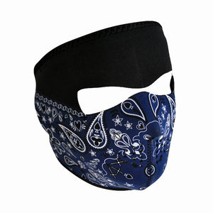 Neoprene All-Season Full Face Mask - Paisley