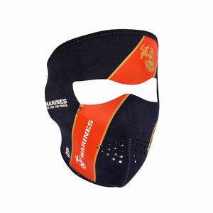 Neoprene All-Season Full Face Mask - USMC Blue Crest