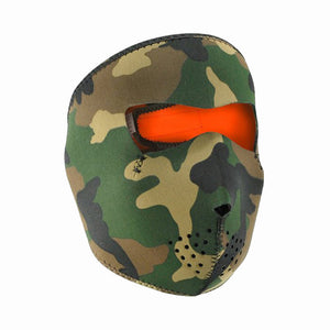 Neoprene All-Season Full Face Mask - Woodland to Orange