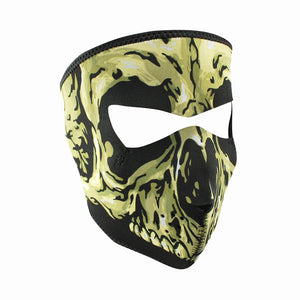 Neoprene All-Season Full Face Mask - Yellow Skull