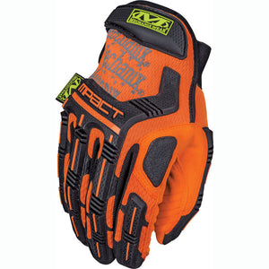 Mechanix Wear Safety M-Pact Gloves, Hi-Viz Orange (SMP-99)