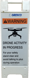UAS A-Frame Safety Sign