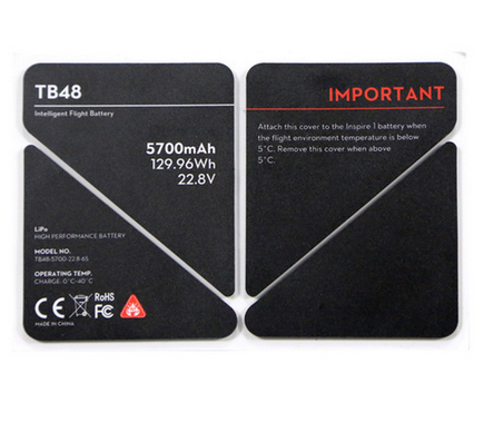 DJI Inspire 1 TB48 Battery Insulation Sticker