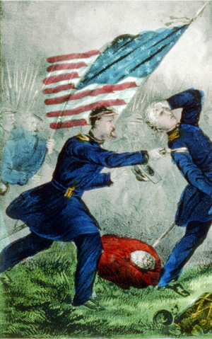 historic battle illustrating why the American flag is displayed backwards on military uniforms