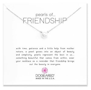 SILVER PEARLS OF FRIENDSHIP NECKLACE